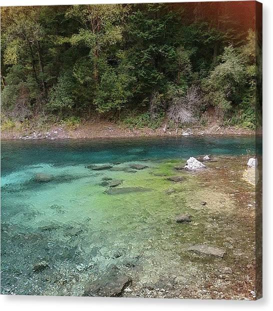 Karsts Canvas Print - Green Rainbow by Qin Xie
