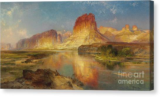 Great Outdoors Canvas Print - Green River Of Wyoming by Thomas Moran