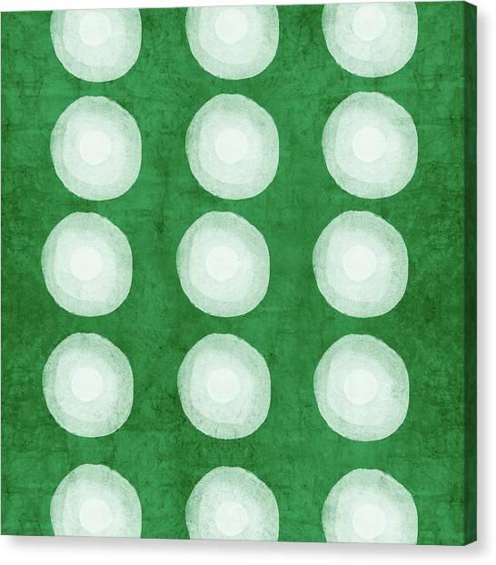 Tie-dye Canvas Print - Green Shibori 4- Art By Linda Woods by Linda Woods