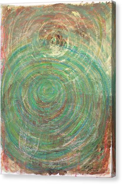 Canvas Print - Green Spiral by Erika Brown