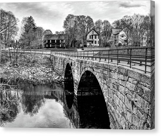 Green Street Bridge In Black And White Canvas Print