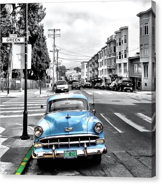 Canvas Print - Green Street by Julie Gebhardt