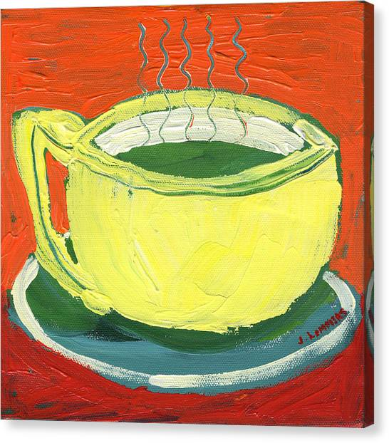 Tea Canvas Print - Green Tea by Jennifer Lommers