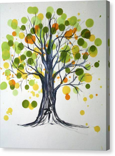 Green Tree Canvas Print by Alma Yamazaki