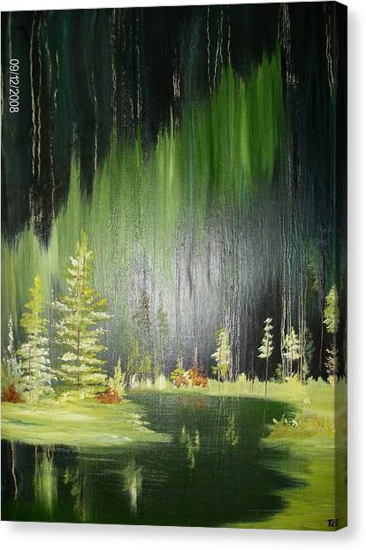 Green Trees Canvas Print by Terry Lash