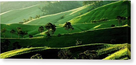 Rolling Hills Canvas Print - Green Valley by Az Jackson