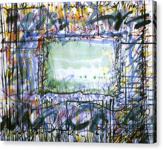 Green Window Canvas Print by Tom Hefko