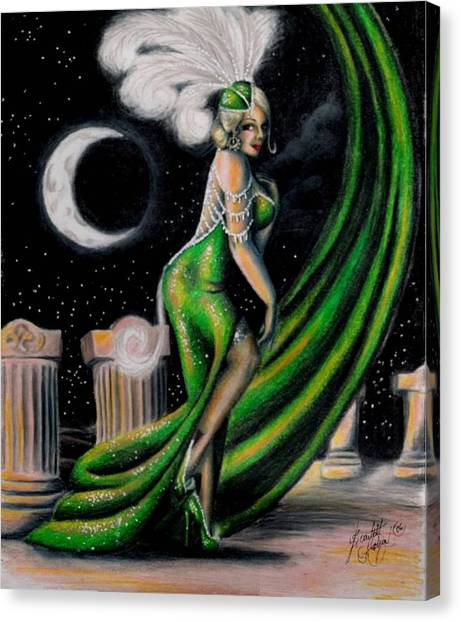Green With Envy Canvas Print by Scarlett Royal