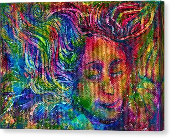 Green Woman Canvas Print
