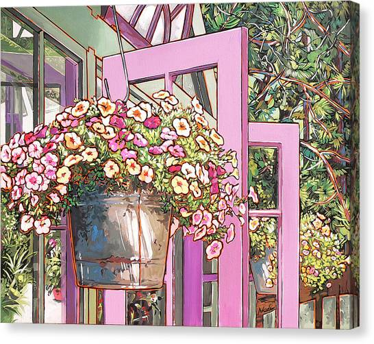 Canvas Print - Greenhouse Doors by Nadi Spencer