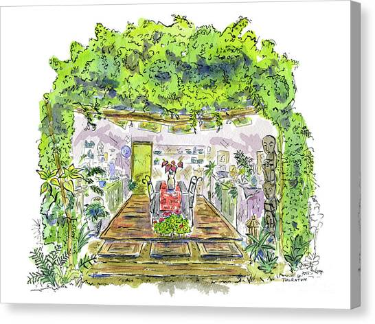 Greenhouse To Volcano Garden Arts Canvas Print