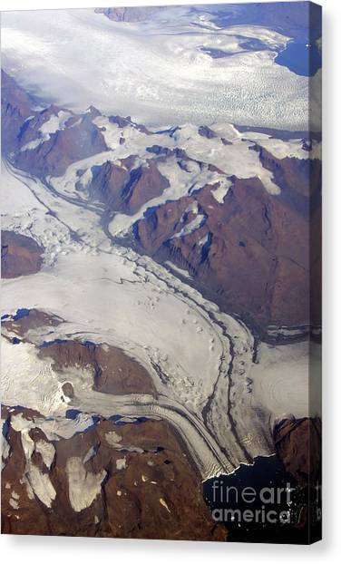 Greenland From 35 Thousand Feet Canvas Print by Stan and Anne Foster