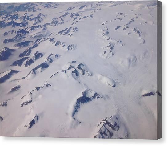 Glaciers Canvas Print - Greenland From Above by Sam Spreadbury
