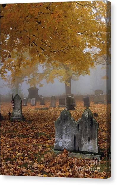 Angel Falls Canvas Print - Greenlawn Cemetery - Mount Vernon New Hampshire by Erin Paul Donovan