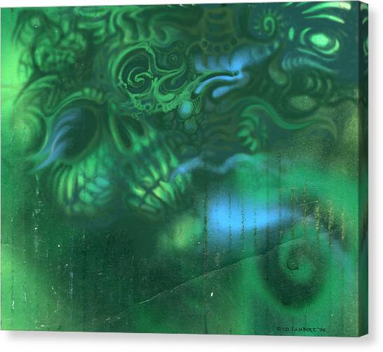 Greenskull Canvas Print by J P Lambert