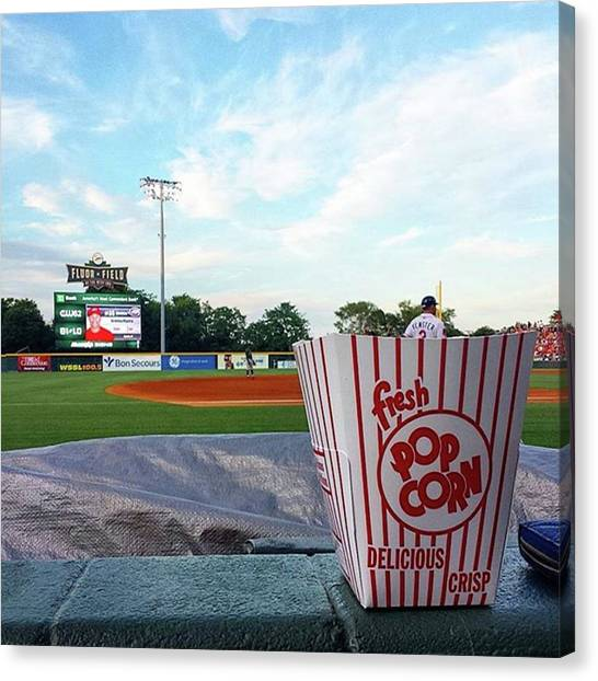 Popcorn Canvas Print - #greenvilledrive #yeahthatgreenville by Kazan Durante