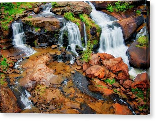 Greenville's Reedy River Falls, South Carolina Canvas Print