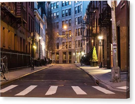 Canvas Print featuring the photograph Greenwich Village by Alison Frank