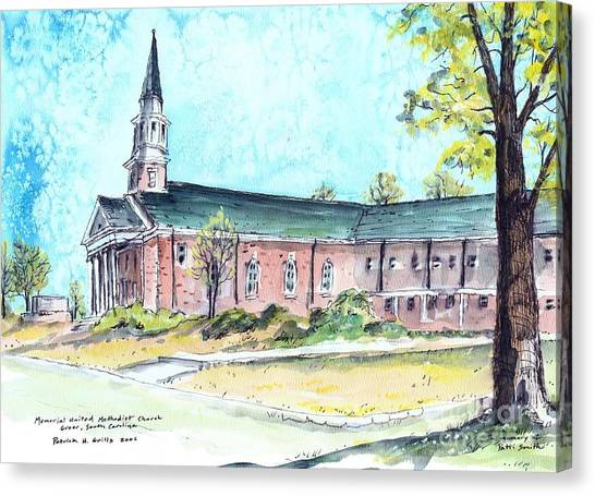 Greer United Methodist Church Canvas Print