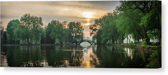 Greet The Day Canvas Print