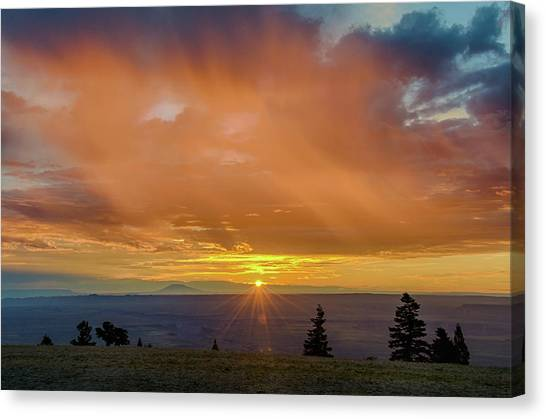 Greet The Marble View Morning Canvas Print