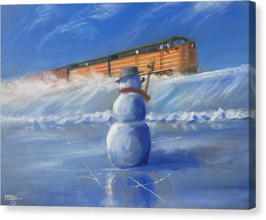 Freight Trains Canvas Print - Greetings by Christopher Jenkins