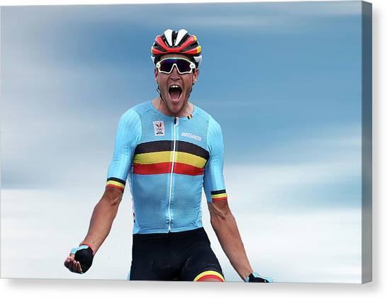 Cyclist Canvas Print - Greg Van Avermaet 4 by Smart Aviation