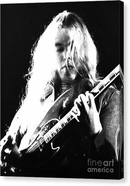 Chris Walter Canvas Print - Gregg Allman 1974 by Chris Walter