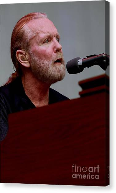 The Allman Brothers Band Canvas Print - Gregg Allman On The Farewell Tour by Concert Photos