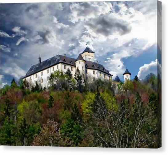 Landmark Canvas Print - Greifenstein Castle by Anthony Dezenzio