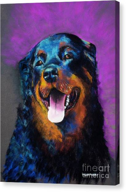 Rottweilers Canvas Print - Gretchen by Frances Marino