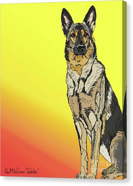 Gretchen In Digital Canvas Print