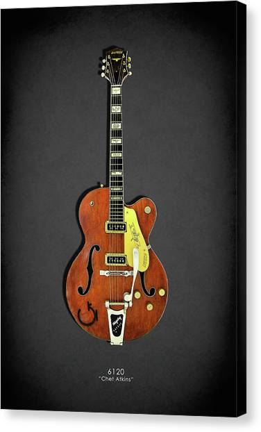 Stratocasters Canvas Print - Gretsch 6120 1956 by Mark Rogan