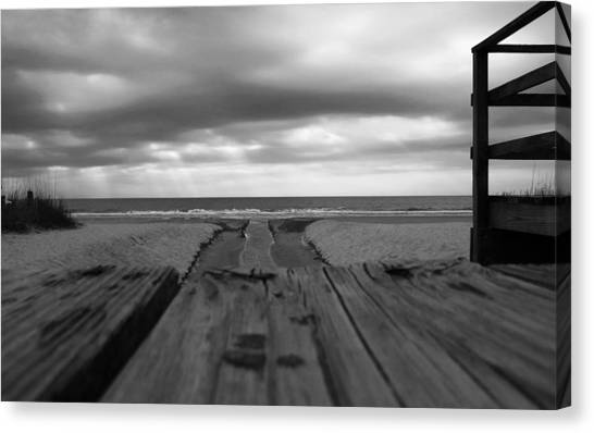 Grey Beach Canvas Print