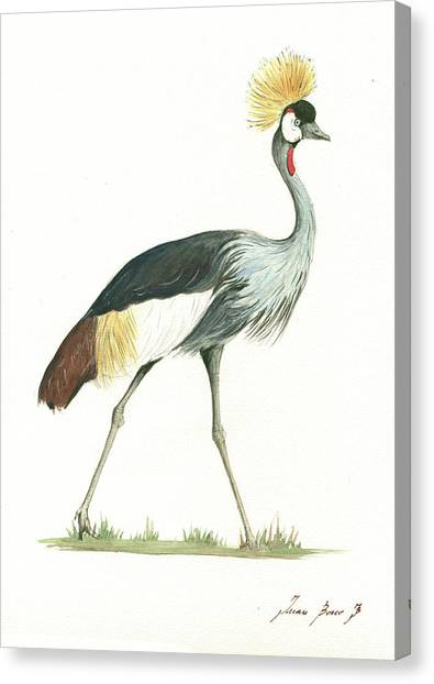 Cranes Canvas Print - Grey Crowned Crane by Juan Bosco