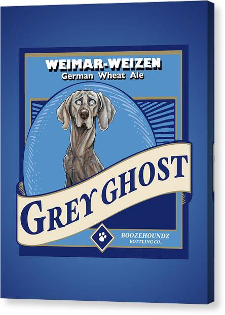 Craft Beer Canvas Print - Grey Ghost Weimar-weizen Wheat Ale by John LaFree