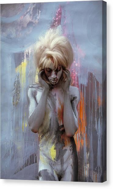 Grey Spring Falls 1 Canvas Print by Filippo Ioco