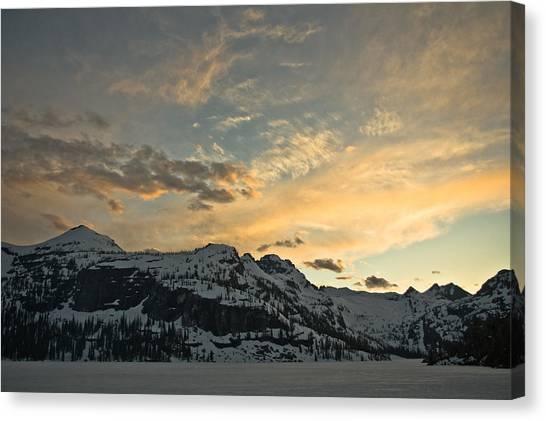 Grey Wolf Lake Canvas Print