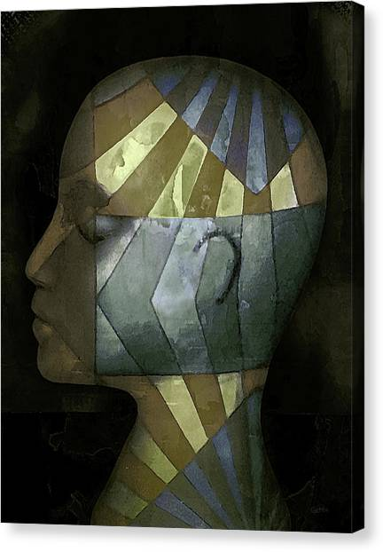 Canvas Print featuring the photograph Grid Head by Jeff  Gettis