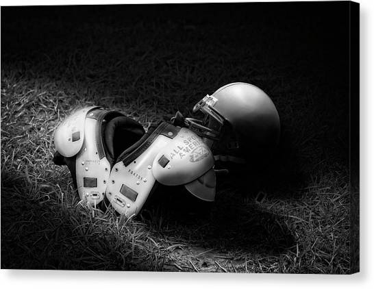 Shoulders Canvas Print - Gridiron Gear by Tom Mc Nemar