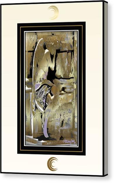 Grief Angel - Light Border Canvas Print