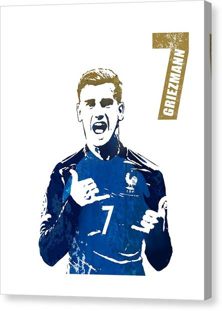 Andres Iniesta Canvas Print - Griezmann #france by Art Popop