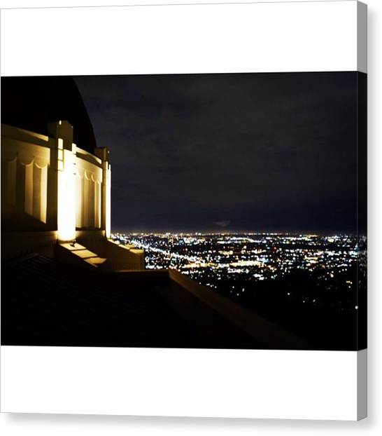 Star Trek Canvas Print - Griffith Observatory By Night 🌃 by Scotty Brown