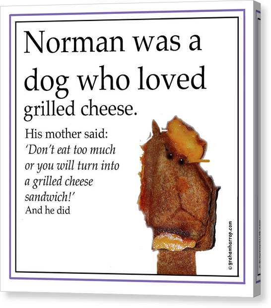 Grilled Cheese Dog Canvas Print