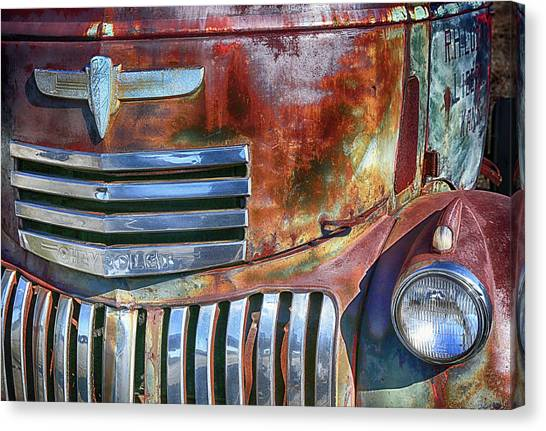Grilling With Rust Canvas Print