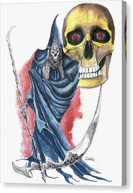 Grimm Reeper Canvas Print