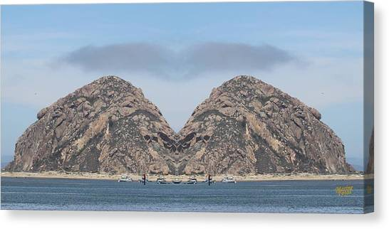 Grinch Of The Rock In Morro Rock Canvas Print by Gary Canant