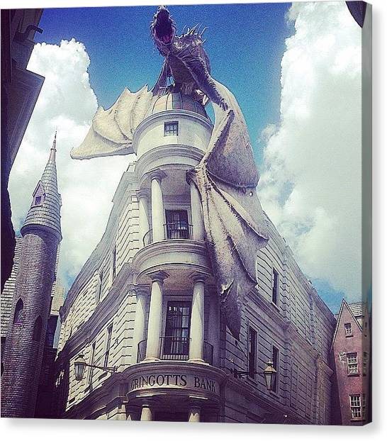 Harry Potter Canvas Print - Gringotts  by Kate Arsenault