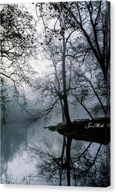 Grings Mill Fog 1043 Canvas Print