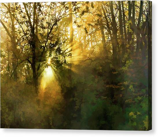 Grings Mill Fog 15-039 Canvas Print